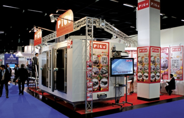 Lo stand Pigo all'Anuga FoodTec 2012