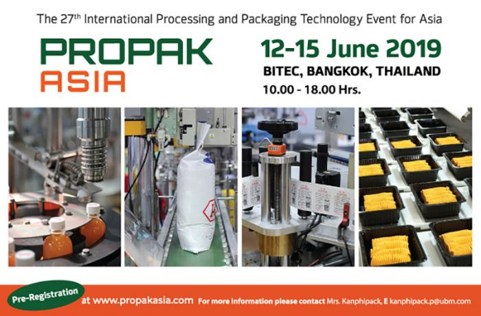 ProPak Asia 2019 – Asia's No.1 Processing & Packaging Event