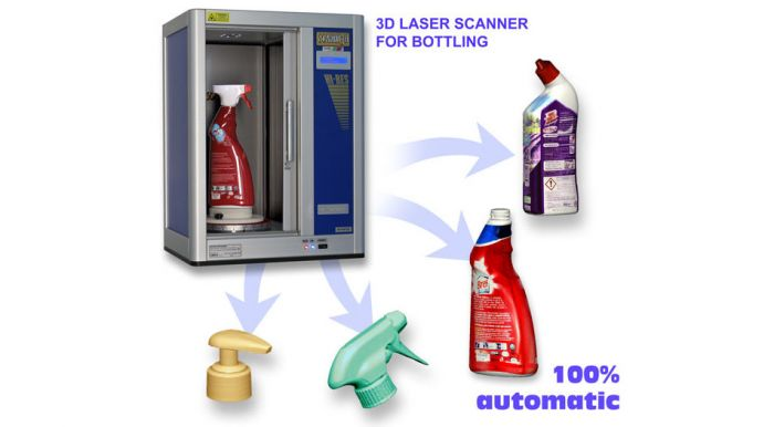 Automatic 3D scanner for bottling industry