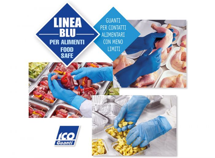 LINEA BLU gloves suitable for contact with food for 2 hours at 40°C