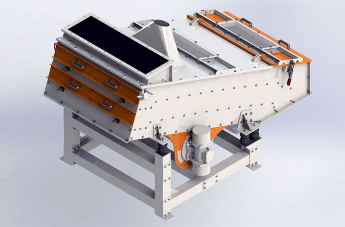 3D rendering of the new Cimas vibrating screen.